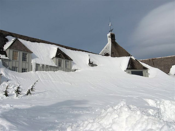 frontside of Timberline Lodge February 16, 2008